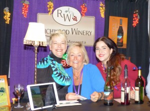 From left, Tess Weinke, Nancy Olson and Brooke Price of Richwoods Winery