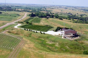 The rebuilt Miletta Vista WInery in Nebraska