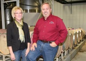 Loretta and Mick McDowell of Miletta Vista Winery