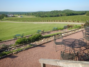 The Grapevine Grill's terrace view, Chaumette Winery