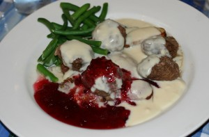 Swedish meatballs at The Peach Barn Cafe at Hedman Winery