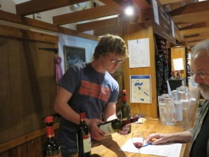 Bourboursville tasting room employee Patrick McHale is a student at Virginia Tech's new undergraduate viticulture program.