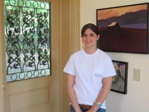 Hostess Molly Kiers at Ox-Eye Vineyards.
