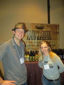 Tony Jacobson and Kayla Johnson of Sleepy Creek at the Illinois Wine Conference