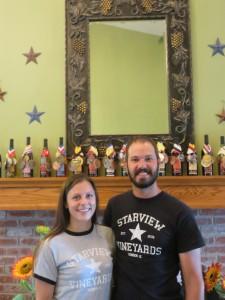 Regina and Brett Morrison of Starview Vineyards