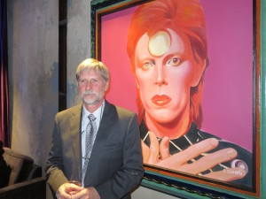 David Haddle of Up the Creek Winery in Burkesville and David Bowie.