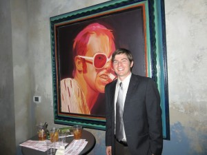 Jeffrey Wheeler, research analyst, University of Kentucky and Sir Elton John