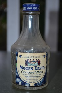 A bottle of Mogen David produced in Chicago