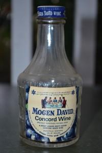 A bottle of Mogen David produced in Chicago