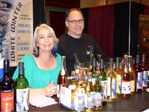 Kim and Jon Hamilton sample some of their hard cider and wine from White Winter Winery located in Iron River, Minnesota.