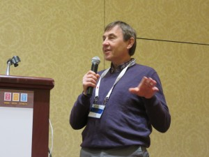 Tom Plocher speaks at the Craft Beverages Unlimited Conference in Missouri.