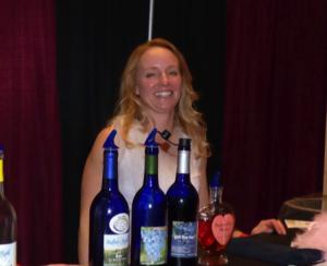 Nicole Dietman displays and samples her Buffalo Rock wines.